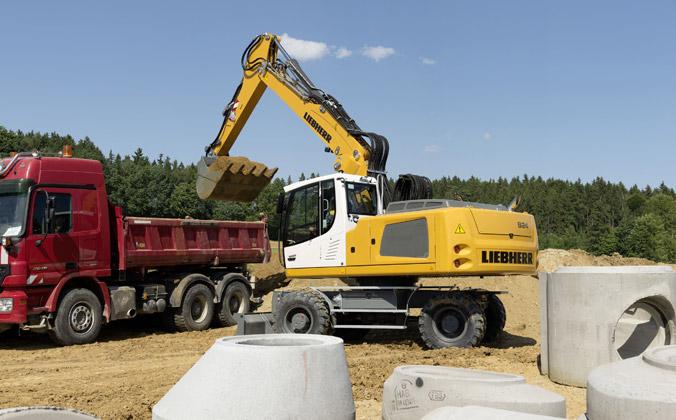 Wheeled-Excavator