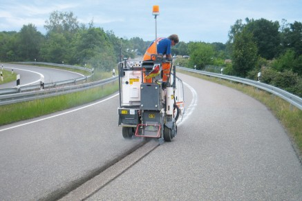 Effective milling tasks such as the application and removal of road markings.