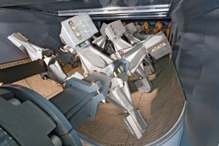 Le malaxeur à double arbre du WR 4200 produit 400 t de mélange homogène par heure.