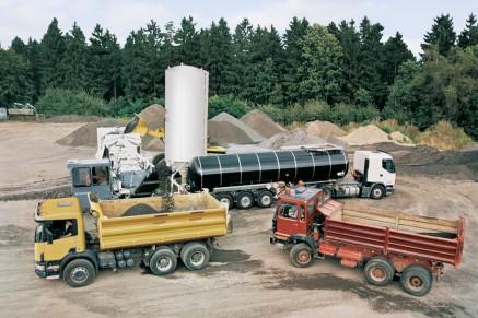 Passage rapide lors de la production du lot: le prochain camion attend déjà.